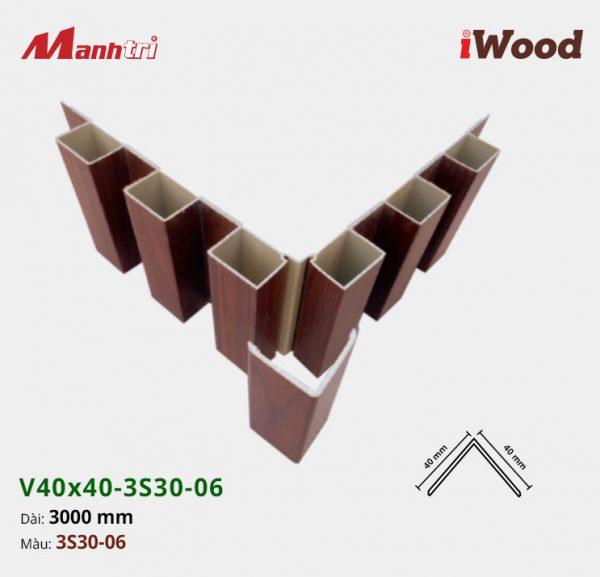 nẹp iWood V40x40-3S30-06 hình 4
