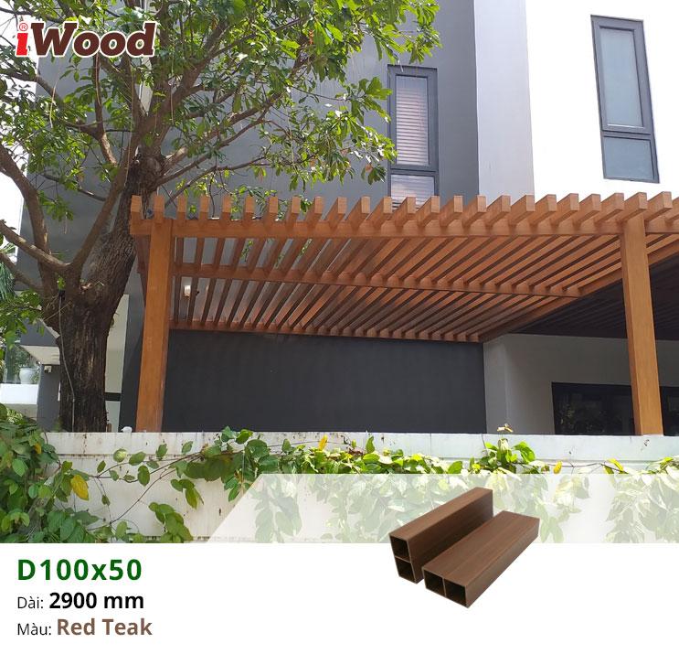Thi công ốp giàn lam gỗ nhựa iWood