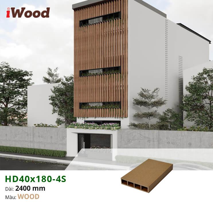 Hệ lam ngoài trời HD40x180x2400 màu wood
