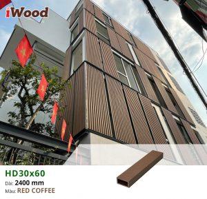 Hình ảnh hoàn thiện ốp trang trí lam HD30x60-Redcoffee