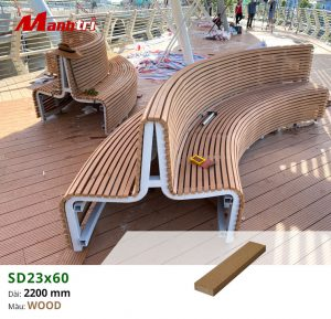Lắp đặt ghế gỗ nhựa ngoài trời