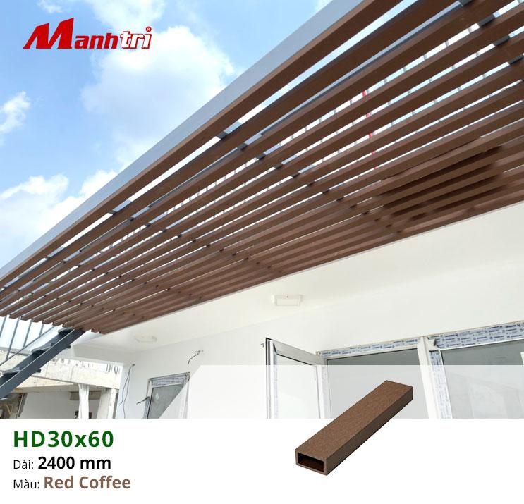 Hình ảnh thi công lam gỗ nhựa HD30x60 quận 1