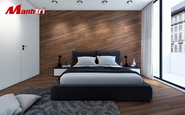 ốp tường phòng ngủ