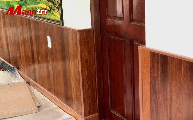 ốp tường sàn gỗ tự nhiên