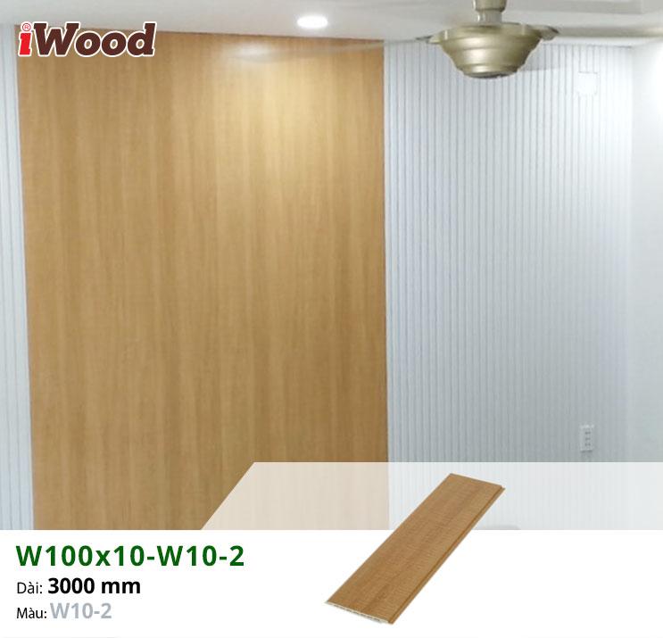 Thi công ốp tường trang trí gỗ nhựa iWood W100x10-W10-2 tại quận 9