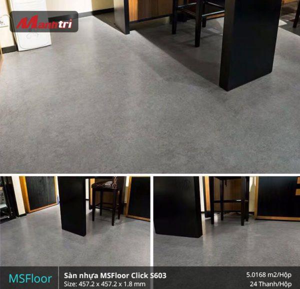 sàn nhựa MSFloor S603 hình 1