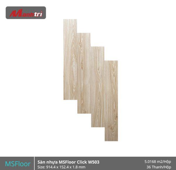 sàn nhựa MSFloor W503 hình 1