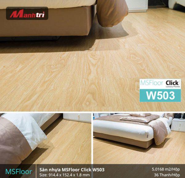 sàn nhựa MSFloor W503 hình 2