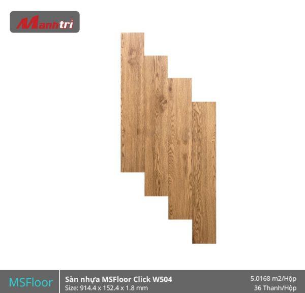 sàn nhựa MSFloor W504 hình 1