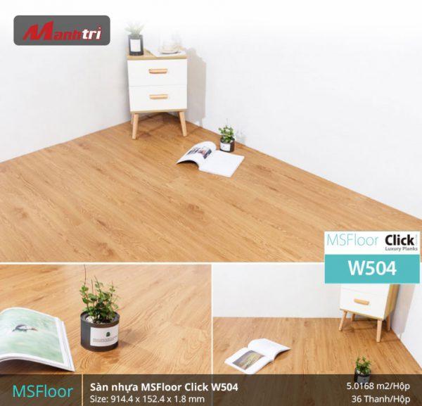 sàn nhựa MSFloor W504 hình 2