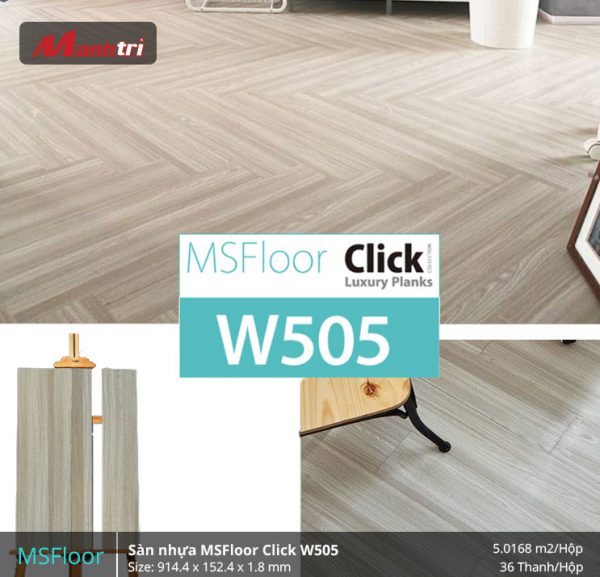 sàn nhựa MSFloor W505 hình 2