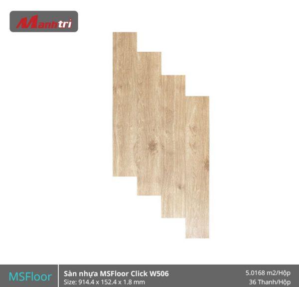 sàn nhựa MSFloor W506 hình 1