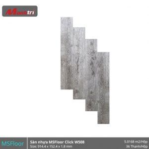 sàn nhựa MSFloor W508 hình 1