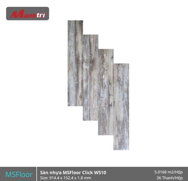 sàn nhựa MSFloor W510 hình 1