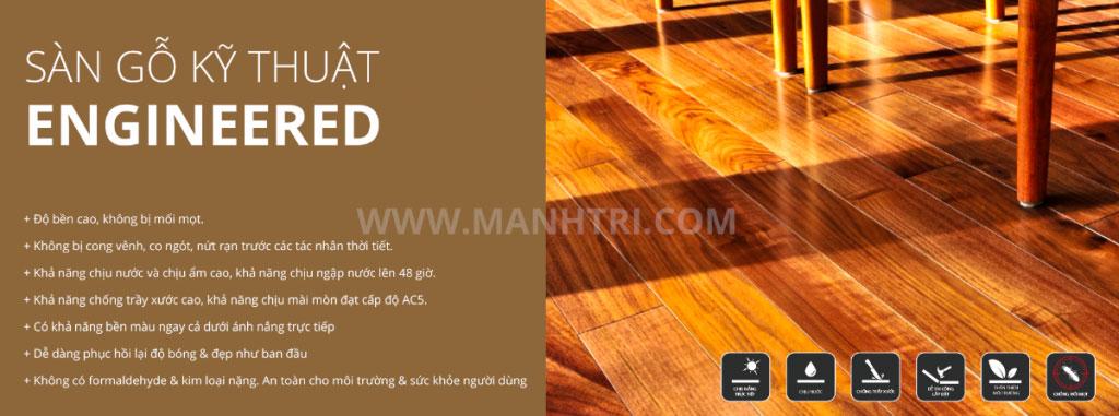 Bảo quản sàn gỗ kỹ thuật